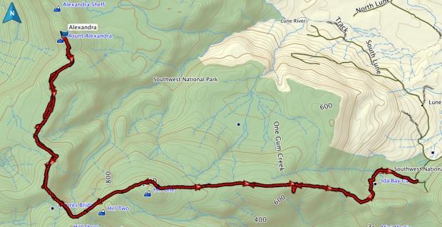 Alexandra GPS route