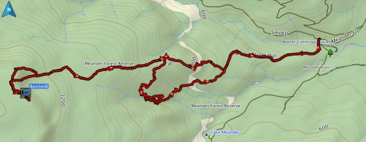 Bastion Bluff GPS route