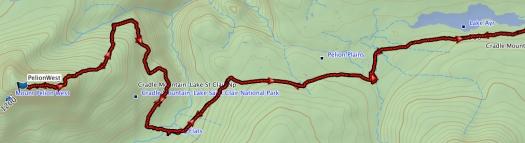 Pelion West GPS route