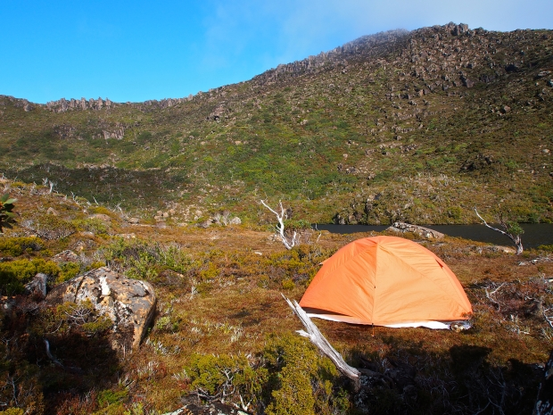 My tent..not a bad camp site. And who'd have known you couldn't see anything half an hour ago?