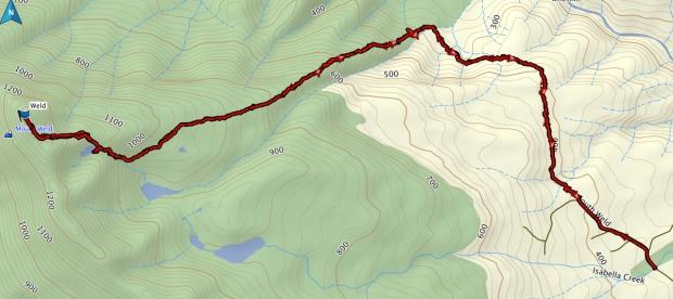 Mt Weld GPS route