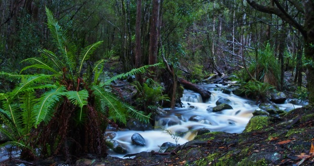 There's only so much you can do without a tripod.. the river on the way in to the southern ranges..