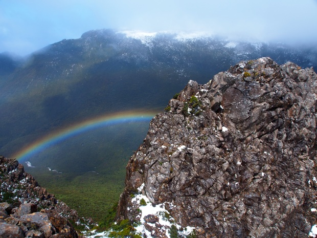But then, after scrambling up the other summit, then back to the first, the world opened up!