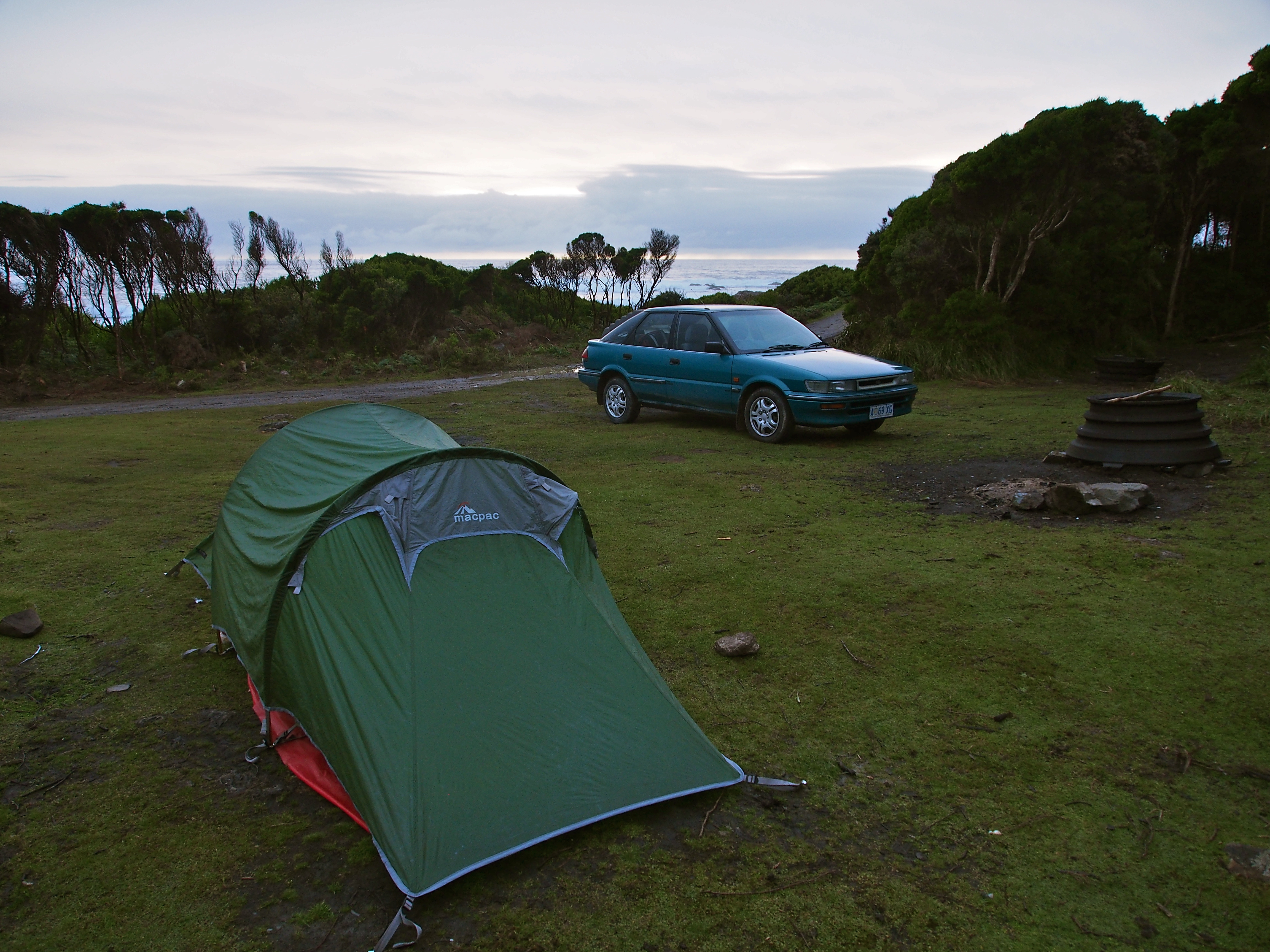 Camp at Trial Harbour that night