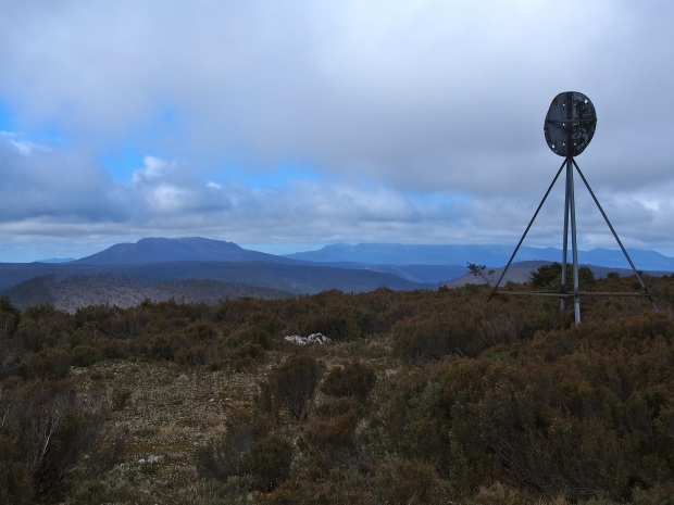 The summit of Scott.. views somewhat marred by the extensive logging