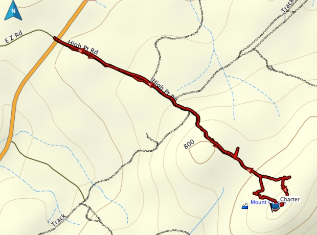 Mount Charter GPS route