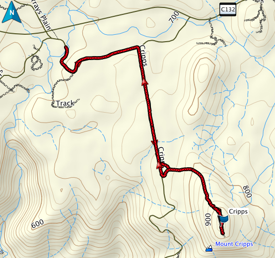 Mount Cripps GPS route