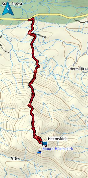 Mt Heemskirk GPS route