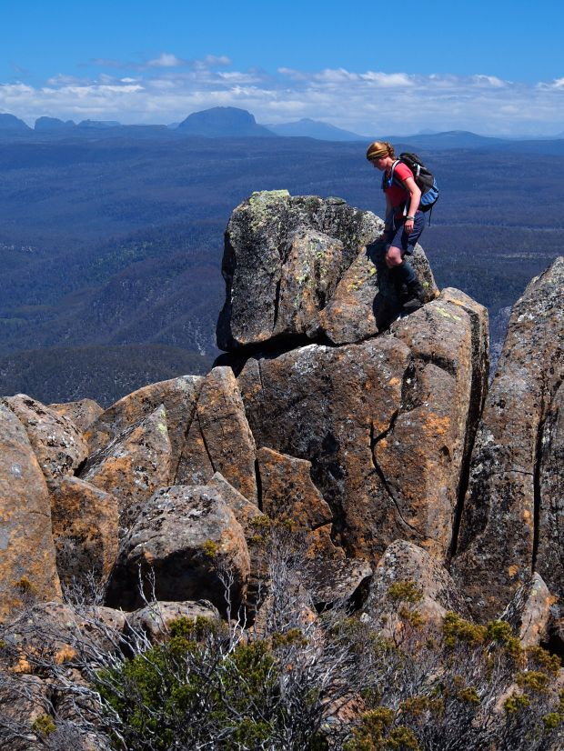 Jess checks out the rock