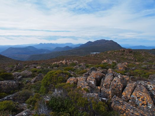 From the summit of the Cheyne Range, looking back towards Gell