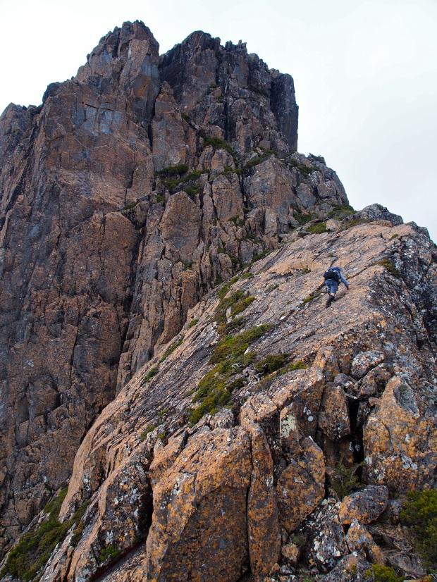 Climbing the slab