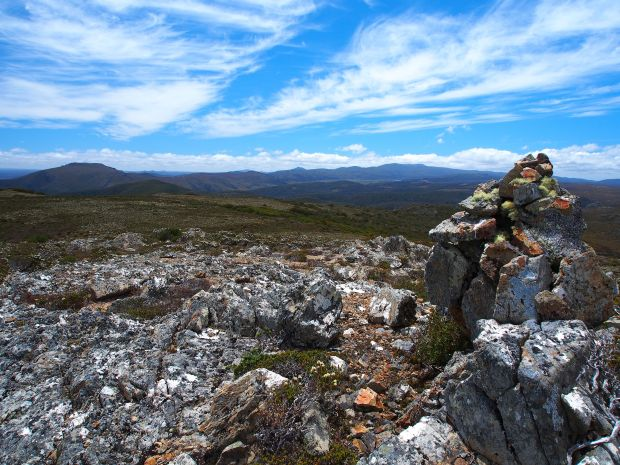 View towards Beecroft from Back Peak summit