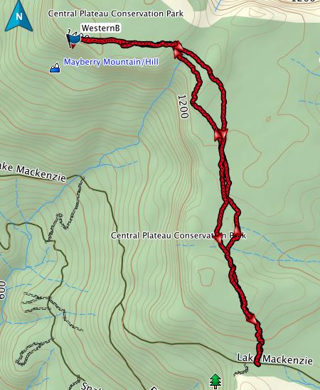 Western Bluff GPS route (from Lake Mackenzie)