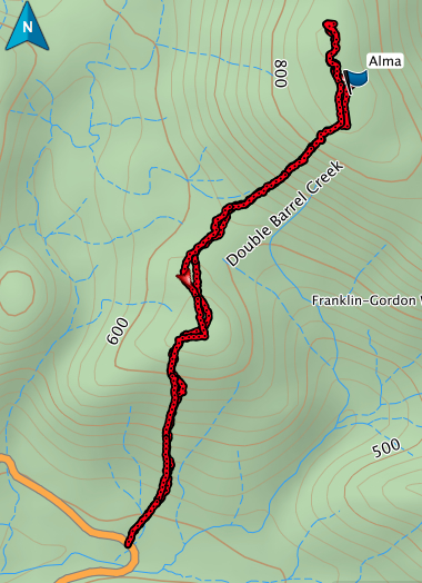 Mount Alma GPS route