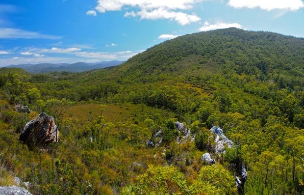 On the ridge, looking towards Alma.. just a bit of scrub to get through