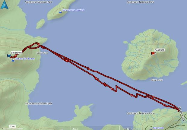 Jim Brown GPS route