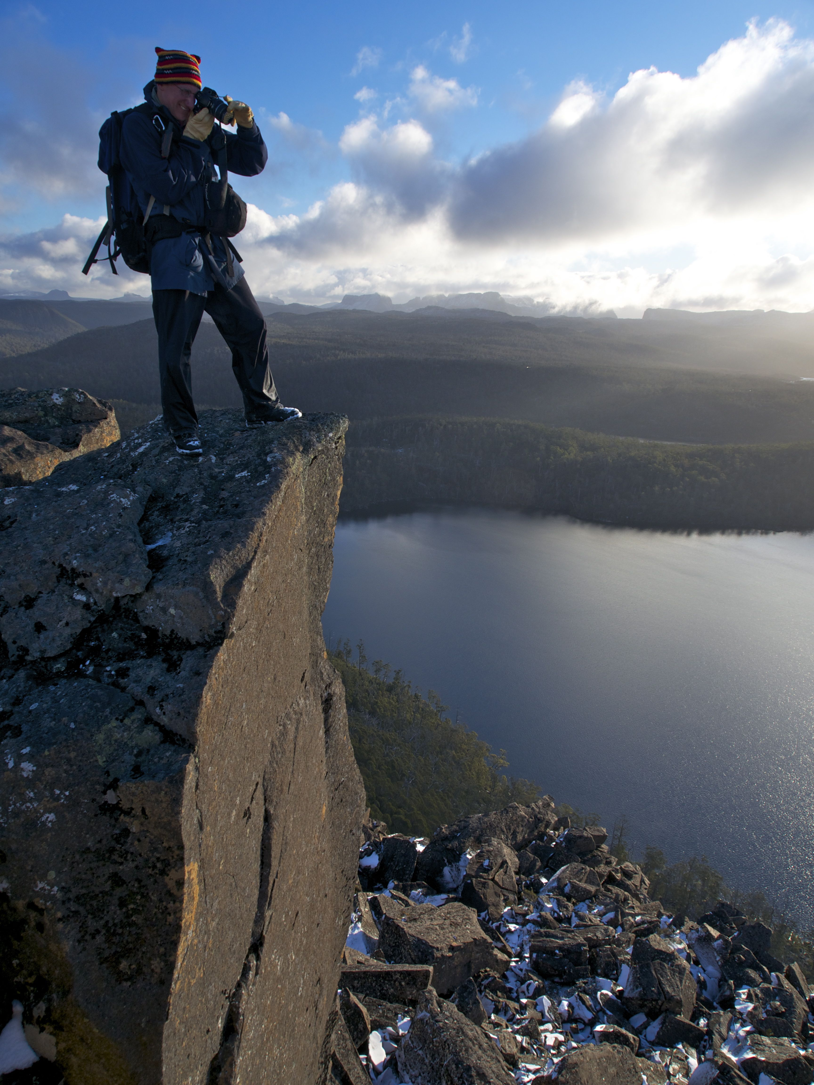 Mucking around on the edge.. anything for a photo ;)!