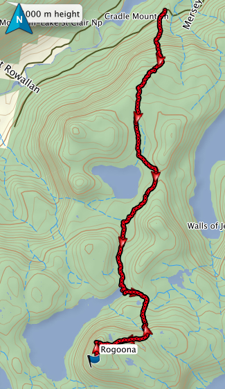 Mount Rogoona GPS route