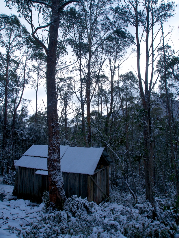 Trappers hut.. cold and snowy!