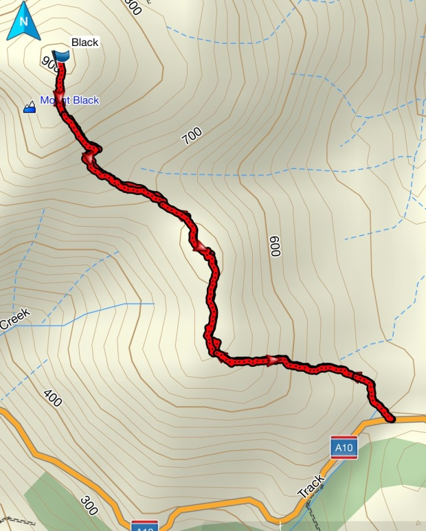 Mount Black GPS route