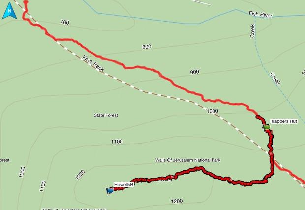Howells Bluff GPS track