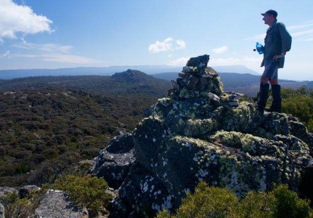 On the summit, Billop Bluff behind.