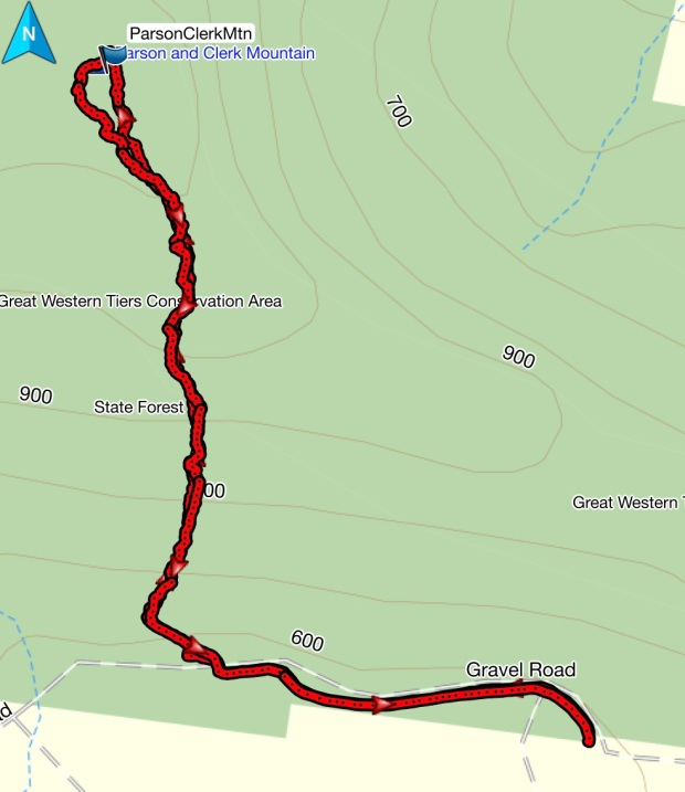 Parson and Clerk GPS route