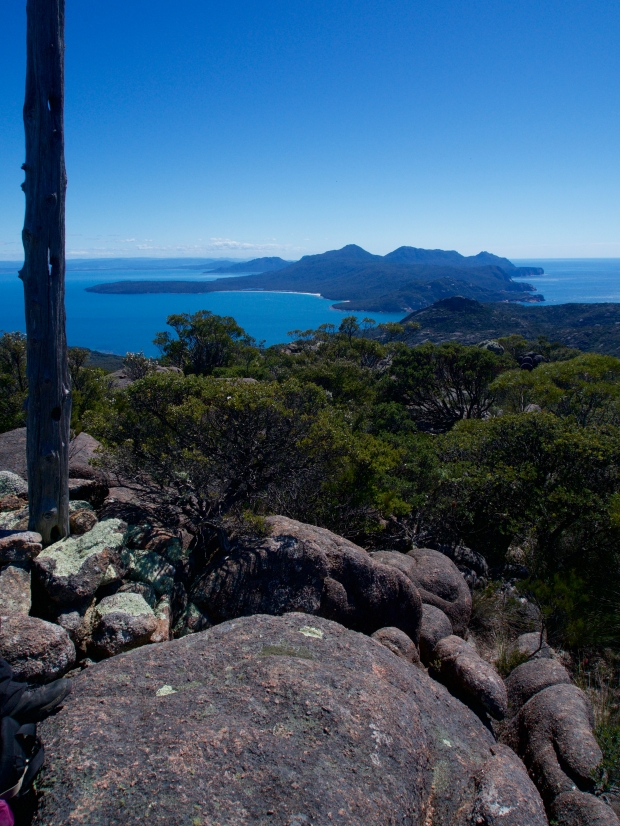 Looking towards Freycinet from Mt Story