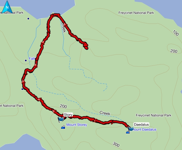 Story, Daedalus and Bear/Bare Hill gps route