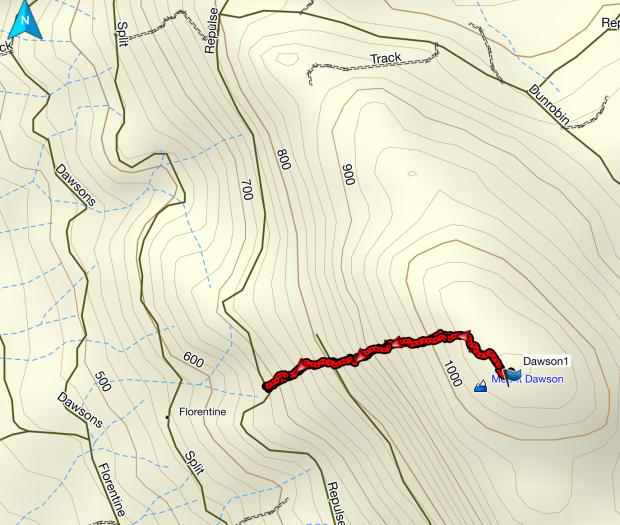 Dawson GPS route
