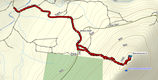 Stevensons LO GPS route