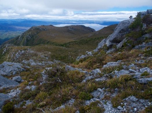 Finally on top, looking towards Macquarie Harbour