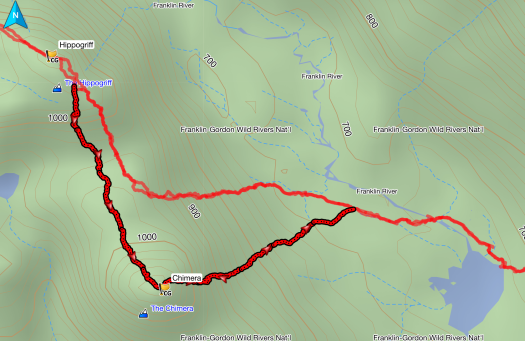 Chimera GPS route
