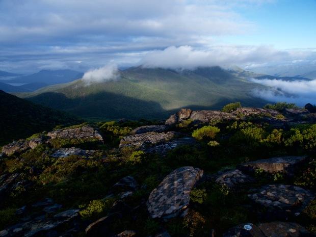 Eldon Peak is shy.. we'd walked all that way yesterday!