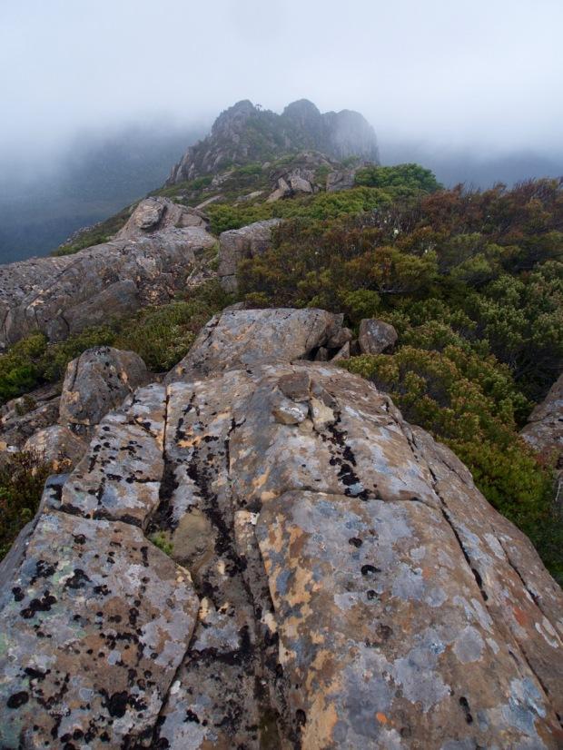 Castle Mountain in clag