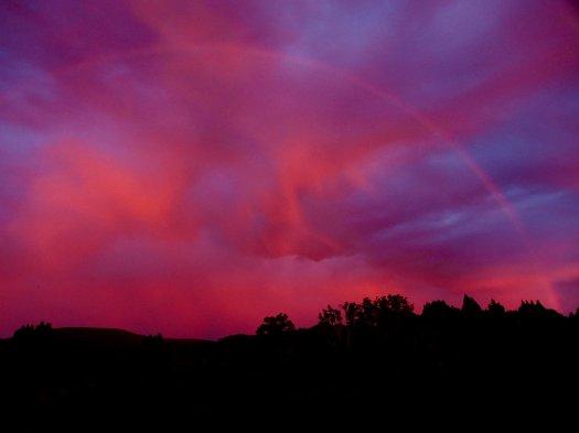 Sunset and rainbow