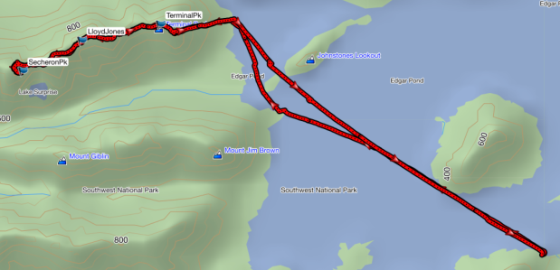 Terminal, Lloyd Jones and Secheron GPS route