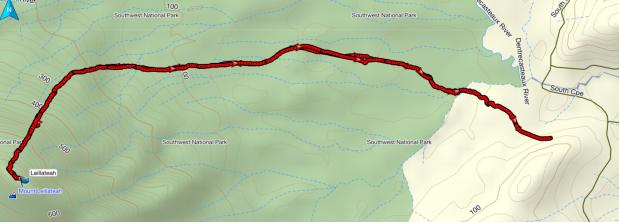 Leillateah GPS route