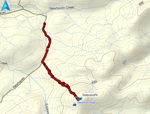 Detention Peak GPS route