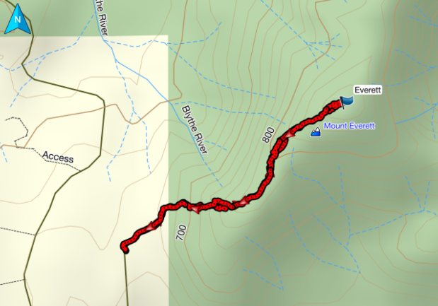 Mount Everett GPS route