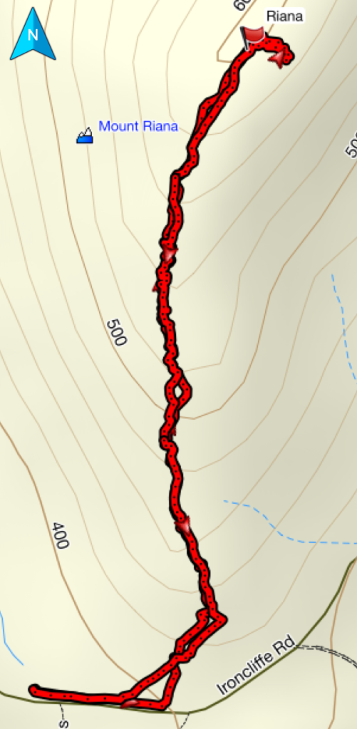 Mount Riana GPS route