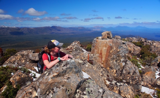 On the summit. Which way should we face to eat our lunch??